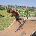 Skateboarder on a Halfpipe