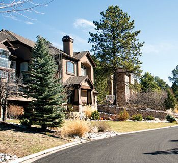 front of a house in castle pines