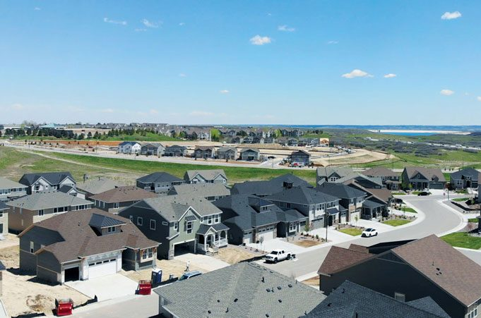 Castle Valley houses in subdivision