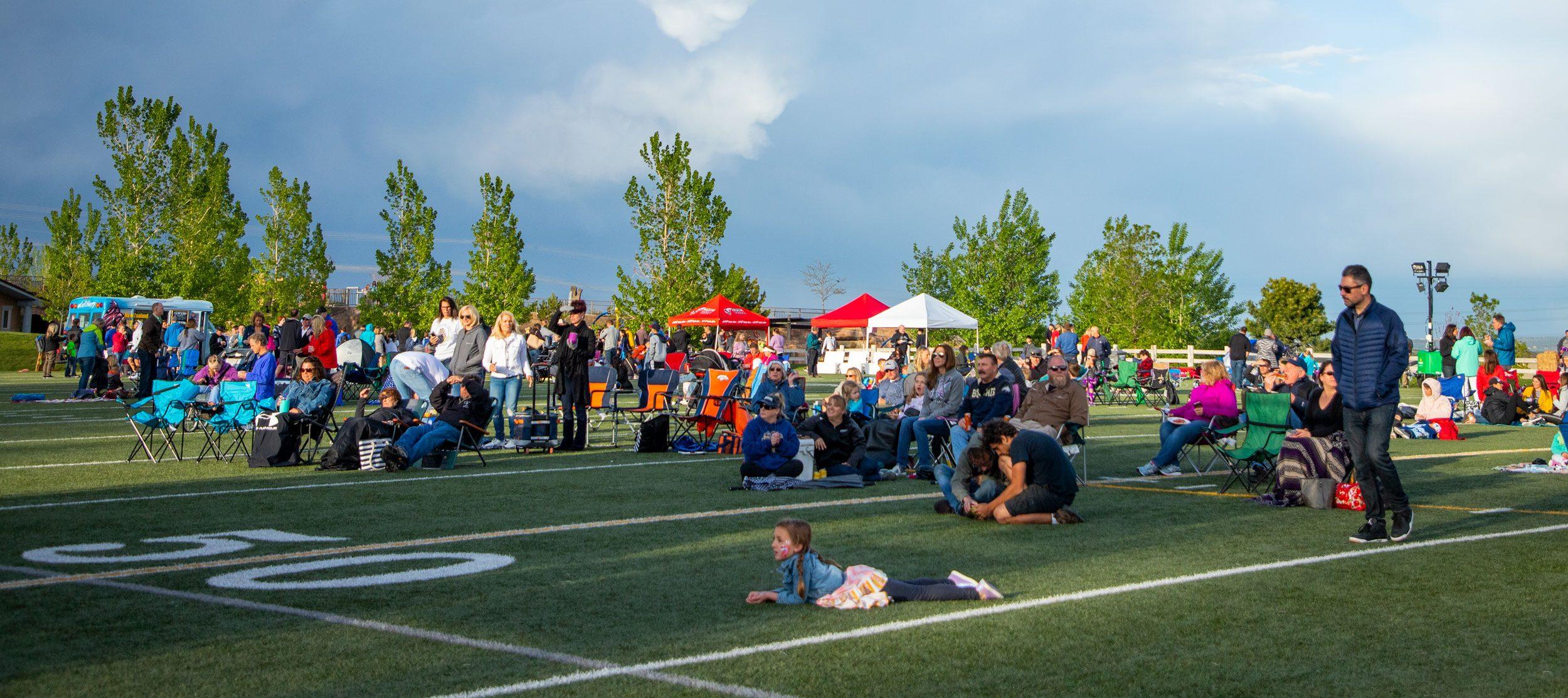 Outdoor concert at Elk Ridge Park