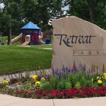 the retreat park entrance