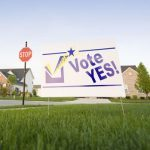 vote yes sign