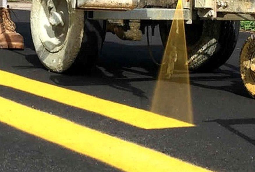 street lane repainting